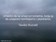 Teodor Ruzvelt: Umesto da se unapred...