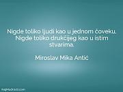 Miroslav Mika Antić: Nigde toliko ljudi kao...