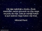 Milorad Pavić: Cilj nije najbitniji u...