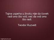 Teodor Ruzvelt: Tajna uspeha u životu...