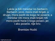 Branislav Nušić: Lakše je biti ministar...