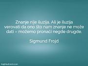 Sigmund Frojd: Znanje nije iluzija. Ali...
