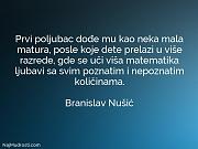 Branislav Nušić: Prvi poljubac dođe mu...