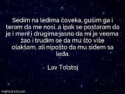 Lav Tolstoj: Sedim na leđima čoveka,...