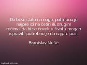 Branislav Nušić: Da bi se stalo...