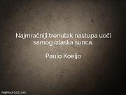 Paulo Koeljo: Najmračniji trenutak nastupa uoči...