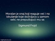 Sigmund Frojd: Moralan je onaj koji...