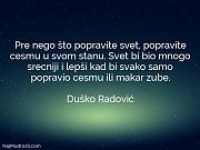 Duško Radović: Pre nego što popravite...