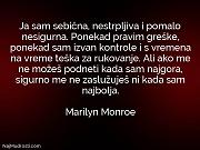 Marilyn Monroe: Ja sam sebična, nestrpljiva...