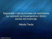 Nikola Tesla: Napredak i razvoj čoveka...