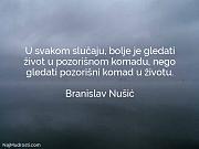 Branislav Nušić: U svakom slučaju, bolje...