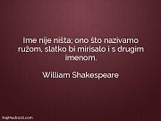 William Shakespeare: Ime nije ništa; ono...