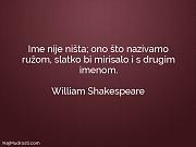 William Shakespeare: Ime nije ništa; ono...