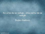 Duško Radović: Ko ume da se...