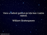 William Shakespeare: Vera u radost gotovo...