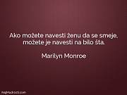 Marilyn Monroe: Ako možete navesti ženu...