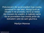 Marilyn Monroe: Pokušavam da se pronađem...
