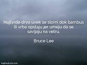 Bruce Lee: Najtvrđe drvo uvek se...