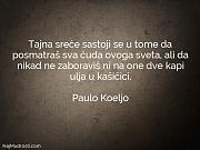 Paulo Koeljo: Tajna sreće sastoji se...